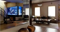 Best Ideas to decorate your home with aquarium