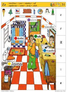 Abeceda bez čtení - Část 2 * N - Ž - 1 Brain Activities, Speech Therapy, Worksheets, It Cast, Teacher, Learning, Games, Play, School