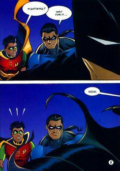 Batman, Nightwing and Robin