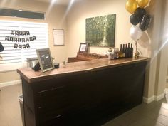 perfect for any style event this 8 ft long live edge bar is the statement that any Las Vegas party or Las Vegas wedding needs. Las Vegas Party, Las Vegas Weddings, Live Edge Bar, Long Live, Corner Desk, Furniture, Home Decor, Style, Corner Table