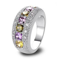 lingmei Wholesale Fashion Jewelry Round Peridot Amethyst Citrinre Pink & White Sapphire AAA Silver Ring Size 6 7 8 9 10 11 12 13   Price: US $2.83   http://www.bestali.com/goto/2041062406/10