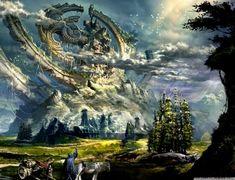 phantasy style landscape - Google Search