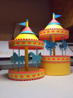 Papercrafts and other fun things: A Carousel Box That Really Spins... Free Template