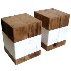 Wood Cube Stools/Tables   From a unique collection of antique and modern side tables at http://www.1stdibs.com/furniture/tables/side-tables/