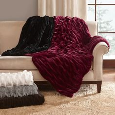 online shopping for Madison Park Oversized Ruched Fur Throw, 50 60 , Brown from top store. See new offer for Madison Park Oversized Ruched Fur Throw, 50 60 , Brown Madison Park Bedding, Luxury Throws, Fur Blanket, Throw Blankets, Faux Fur Throw, Knitted Throws, Queen, Bedding Sets, Ivory Bedding