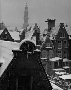 by Kees Scherer, Westertoren, Jordaan, Amsterdam, ca. 1955