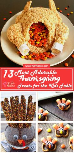 13 Most Adorable Thanksgiving Treats for the Kids Table holiday recipes halloween Dessert Party, Holiday Snacks, Holiday Recipes, Holiday Parties, Thanksgiving Potluck, Thanksgiving Decorations, Thanksgiving Recipes For Kids To Make, Thanksgiving Cake Pops, Thanksgiving Food Crafts