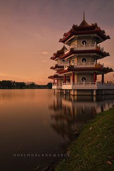 Singapore Chinese Garden Sunset