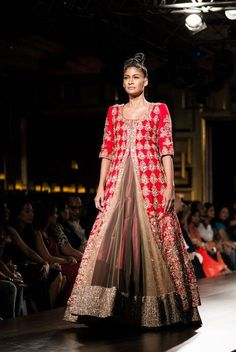 How a quintessential red jacket lehenga can't not be classy - Manish Malhotra #indian #bridal http://blackbookfortheindianbride.com/10-gorgeous-ideas-for-red-wedding-lehengas/