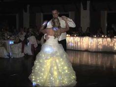 LED wedding dress