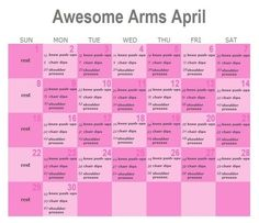 daily reps for awesome arms april