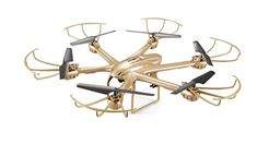 MJX X601H Drone Altitude Hold FPV HD Camera RC Quadcopter WIFI APPTransmitter One Key Return Headless Helicopter RTF  Golden -- More info could be found at the image url.
