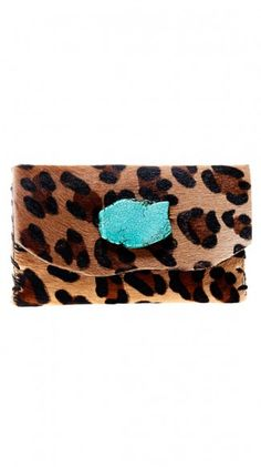Wow-my 2 favs-animal print and turquoise.