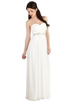 ModCloth has inexpensive, relaxed white dresses perfect for a more casual wedding! Never Spin Better Dress, #ModCloth