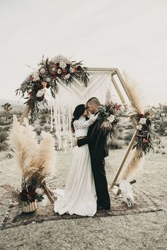 boho fall wedding ceremony arch ideas boho wedding 20 Outdoor Fall Wedding Arches for 2019 - EmmaLovesWeddings Fall Wedding Arches, Wedding Ceremony Arch, Wedding Altars, Backdrop Wedding, Wedding Archways, Backdrop Frame, Floral Backdrop, Wedding Vows, Wedding Bridesmaids