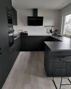 Grey Kitchen Designs, Kitchen Room Design, Home Room Design, Modern Kitchen Design, Home Decor Kitchen, Kitchen Furniture, Kitchen Interior, Home Interior Design, Home Kitchens