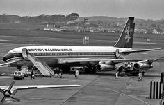 British Caledonian Boeing 707 at Prestwick Airport (1972)