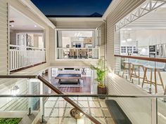 New Hampton house extension at Hawthorne / Brisbane. Renovation to existing early 1900 Queenslander house. Hamptons Style Homes, Hamptons House, The Hamptons, Home Stairs Design, Home Design Plans, Dream House Plans, House Floor Plans, Building Aesthetic, Queenslander House