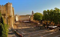 Place du Palais in Avignon, France