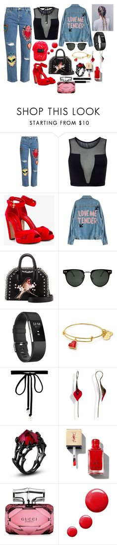 """""""love on my body"""" by megi-queen ❤ liked on Polyvore featuring House of Holland, Varley, Alexander McQueen, STELLA McCARTNEY, Spitfire, Fitbit, Joomi Lim, Gucci and Topshop"""