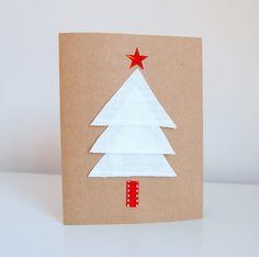 Crie cartões de Natal personalizados com as washi tapes! Fácil de fazer e bem criativo, veja como é!