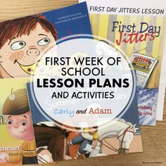 First Week of School Lesson Plans This pack includes everything you need to plan your first week of school! Just choose the activities that you want to use, print, and spend the rest of your summer relaxing! INCLUDED: -Procedure Books -Team Building Activities -STEM Activities -Read-Aloud Lessons and Activities PRODUCTS INCLUDED IN THIS PACK: First Day Jitters Lesson and Activities: Beginning of the Year How I Spent My Summer...