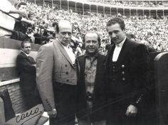 Chenel, Manzanares y Arévalo, retratados por el genial Canito.