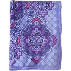 Vera Bradley Throw Blanket (Lilac Tapestry) Blankets ($49) ❤ liked on Polyvore featuring home, bed & bath, bedding, blankets, tapestry bedding, lavender throw, light purple bedding, vera bradley throw blanket and vera bradley throw