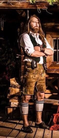 "Bavarian Alps ""Buried in my Alps"" Eye candy Folk Fashion, 1940s Fashion, Drindl Dress, German Outfit, European Men, Dance Movement, German Fashion, Le Male, Folk Costume"