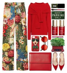 """""""Autumn Day"""" by grozdana-v ❤ liked on Polyvore featuring AeroGrow, Gucci, Isa Arfen, Clarins, Lodis, Smashbox and JINsoon"""