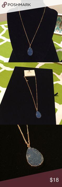 """NWT- Druzy Blue Stone Necklace NWT- Druzy Blue Stone Necklace- 9""""L Jewelry Necklaces"""
