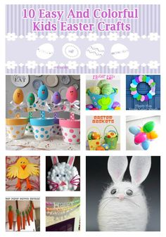 Easy and Colorful Kids #Easter #Crafts