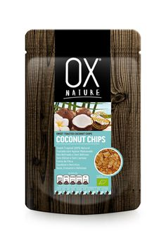 OX Nature!... Organic SWEET COCONUT CHIPS (Toasted with Mascobado Sugar) 80g