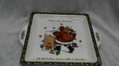 Portmeirion studio by Susan Winget Christmas stories square serving plate tray