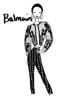 Balmain Paris Womenswear S/S 2013 by Rei Nadal.