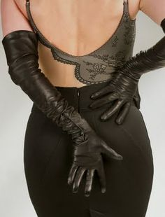 Leather gloves. Black is classic, but tan is divine.