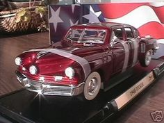 1948 Tucker Torpedo diecast model car 1:18 scale die cast by Yat Ming - Burgundy by Yat Ming. $42.95. Beautifully crafted 1948 Tucker Torpedo diecast model car 1:18 scale die cast by Yat Ming. This is a very highly detailed 1948 Tucker Torpedo diecast model car 1:18 scale die cast by Yat Ming. Every details are well put together. Great collectible or gift piece. 1948 Tucker Torpedo diecast model car 1:18 scale die cast by Yat Ming is one of the best showcase model for any a...