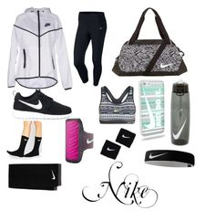 """Nike"" by audreymon ❤ liked on Polyvore featuring NIKE and nike"