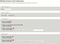 Debian sources.list generator mode demploi / Après avoir modifié le port SSH pour me connecter à distance et autorisé le compte root à se connecter je mets à jour ma distribution Debian avec aptitude après avoir changé le fichier /etc/apt/sources.list.