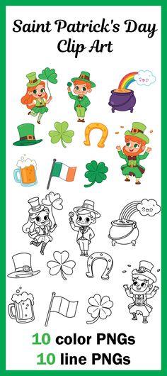 St Patrick's Day Clip Art, Irish Clip Art, St Paddy's Day Clip Art