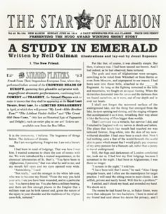 http://bakerstreet.wikia.com/wiki/A_Study_in_Emerald  FANDOM! Fanfic writers and readers - let's read!