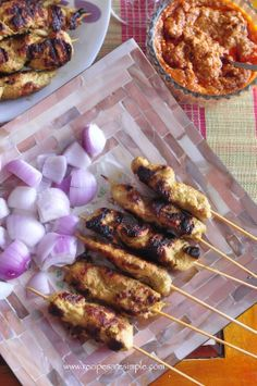 Best Chicken Satay Recipe Malaysian Indonesian BBQ Skewers. How to get the street BBQ flavor right at home!