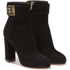 Salvatore Ferragamo Boots (990 CAD) ❤ liked on Polyvore featuring shoes, boots, ankle booties, ankle boots, sapatos, black, high heel booties, buckle boots, black booties and black high heel booties