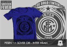 "Kaos INTER MILAN ""CE SOLO I'INTER 1908"" [READY STOCK] sablon   : Hitam Soft Rubber Available - Ready Stock"