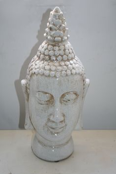 No21 White ceramic Buddha head