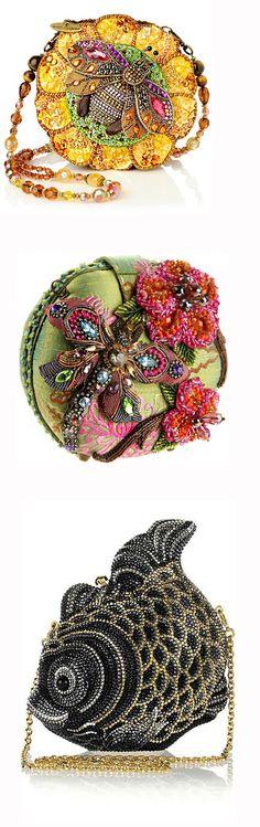 Bolsas: Artesanal, feito à mão -  /   Bags: Crafts, handmade - Beaded Purses, Beaded Bags, Handmade Handbags, Handmade Bags, Mary Frances Handbags, Felt Purse, Unique Purses, Big Bags, Vintage Purses