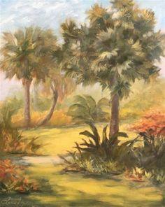 "Daily Paintworks - ""Naples Botanical Garden 509"" - Original Fine Art for Sale - © Laura  Buxo"