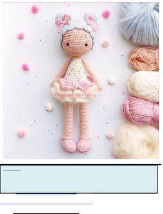 Crochet Monkey Pattern, Crochet Amigurumi Free Patterns, Crochet Pouf, Baby Blanket Crochet, Knitted Dolls, Crochet Dolls, Fabric Flower Tutorial, Pink Doll, Soft Dolls