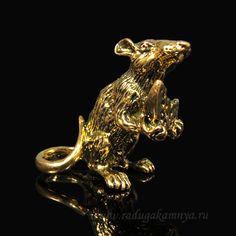 Крыса из силумина, цв.бронза, 32*20*30 мм. Артикул: 95342на складе 26шт.  цена: 64 руб.