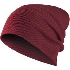 MasterDis Beanie Basic Flap Hat Maroon ($10) ❤ liked on Polyvore featuring accessories, hats, beanie, head, maroon beanie, maroon hat, beanie hats y flap hat